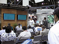 Live product presentations always enhance an exhibition's success